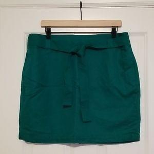Banana Republic Kelly green linen mini skirt